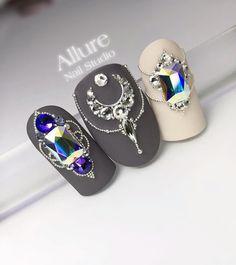 likes, 8 comments – Manicure Training Magnitogorsk … - Diy Nail Designs Nail Crystal Designs, Gem Nail Designs, Manicure Nail Designs, Elegant Nail Designs, Elegant Nails, Beautiful Nail Designs, Nail Manicure, Swarovski Nails, Crystal Nails
