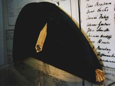 Replica bicorn hat of a British Royal Navy Lieutenant's Uniform, circa 1800-1811.