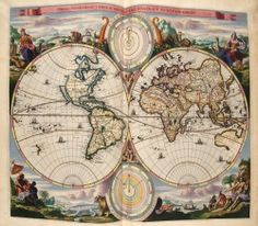 The Newberry Library Chicago is home to 500,00 maps from all over the world.