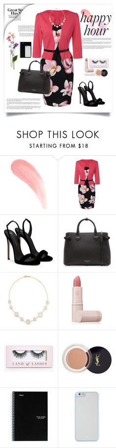 """""""Get Ready with Rosegal"""" by ponyfly ❤ liked on Polyvore featuring Giuseppe Zanotti, Burberry, Ippolita, Lipstick Queen, Boohoo and Kate Spade"""