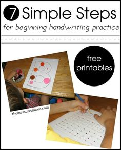 7 simple steps for teaching kids to write the alphabet... with free printables!
