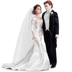 Following the release of Twilight: Breaking Dawn, Mattel released Bella and Edward dolls in their wedding-day attire.Photo courtesy of Mattel
