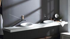Curvas de Krion® para un baño más sugerente: nuevo lavabo de semiencastre Almond
