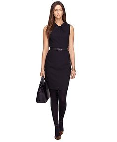 Our feminine, wool dress is both day or evening appropriate with the right accessories and footwear. Women's Fashion Dresses, Skirt Fashion, Women's Corporate Wear, Girls Wardrobe, Sweater Shop, Wool Dress, Ladies Dress Design, Dresses For Sale, Dresses With Sleeves