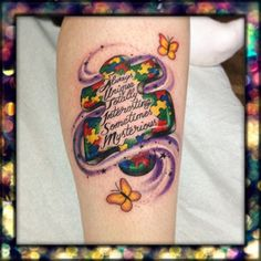 Autistic tattoo so unique ;)