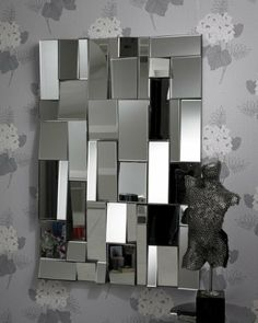 clear glass 39 jigsaw 39 wall mirror 120 x 80cm ee920a mirrors for every interior from. Black Bedroom Furniture Sets. Home Design Ideas