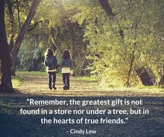 """""""Remember, the greatest gift is not found in a store nor under a tree, but in the hearts of true friends."""" - On #FriendshipDay, strengthen your friendship with those closest to you!"""