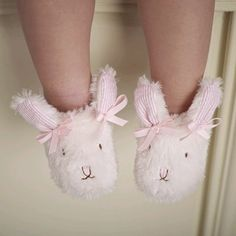 Plush Pink Bunny Slippers by Mud Pie - to put in her Easter basket. Too cute! Cute Kids, Cute Babies, Baby Kids, Little Princess, Pink Shoes, Baby Shoes, Baby Booties, Somebunny Loves You, Mud Pie Baby
