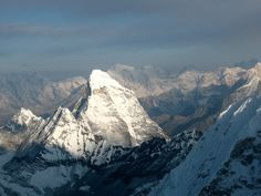 From the summit of Baruntse in Nepal