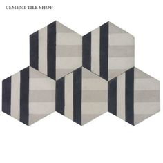 Cement Tile Shop - Handmade Cement Tile   Bob Pattern. Designed by Erin Adams. Arrange in multiple directions for different patterns!