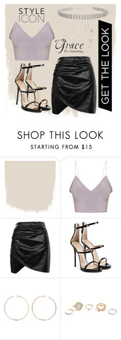 """""""Crystal"""" by sugarbubbles ❤ liked on Polyvore featuring Boohoo, Giuseppe Zanotti, Anita Ko, GUESS and Humble Chic"""