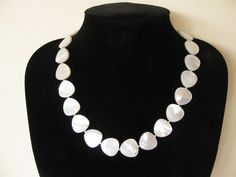 Mother of pearl and sterling silver necklace. SOLD