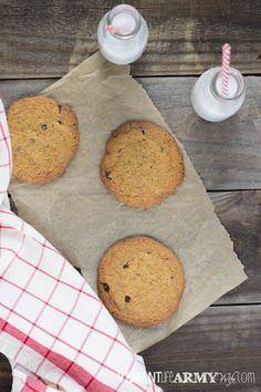 Need a sweet treat but don't want a full batch of cookies calling your name? Try these nut free Paleo and Grain Free Chocolate Chip Cookies for Two! Paleo Treats, Healthy Cookies, Nut Free, Grain Free, Paleo Chocolate Chip Cookies, Single Serve Desserts, Paleo Dessert, Convenience Food, Paleo Recipes