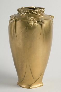 Hector Guimard (French, 1867–1942), Gilt Bronze Vase, 1908.