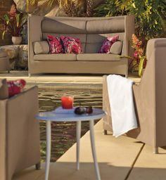 Don't let the clean lines and ample cushions fool you: the weather-defying Modello Seating Collection is designed for worry-free, outdoor use.   Frontgate: Live Beautifully Outdoors