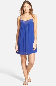 Socialite Crochet Inset Trapeze Dress - Available in 3 Colors at Nordstrom