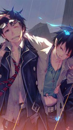 Anime boys. Yukio and Rin. Ao no Exorcist