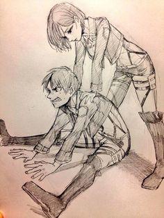 Shingeki no Kyojin┋Атака Титанов┋Attack on Titan Attack On Titan Comic, Attack On Titan Ships, Attack On Titan Fanart, Tokyo Ghoul, Otp, Mikasa X Eren, Eremika, Hyouka, Anime Ships