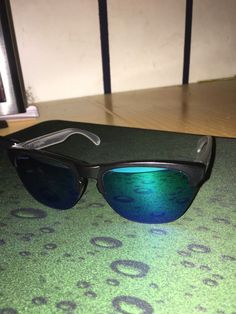 Oakley Frogskins Lite Sunglasses OO9374-0263 Matte Black   Clear  Prizm  Sapphire  fashion  clothing  shoes  accessories  mensaccessories ... 1b614aedb7