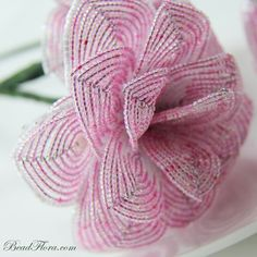 French beaded roses bridal French Vintage от BeadFloraJewels