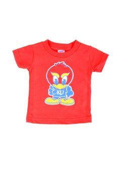 Kansas Jayhawks T-Shirt - Infant Red Baby Jay Mascot T-Shirt http://www.rallyhouse.com/shop/kansas-jayhawks-kansas-jayhawks-tshirt-infant-red-baby-jay-mascot-tshirt-3022045 $14.99