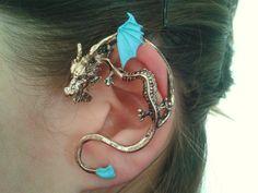 Turquoise dragon ear cuff wrap by StylesBiju on Etsy, $14.90