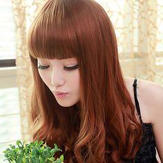 Cute Hime Cut Brown 60cm Sweet Lolita Long Curly Cosplay Wig