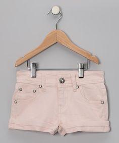 Light Pink Denim Shorts