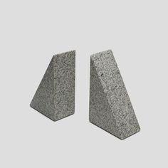 Minimal granite triangle bookends