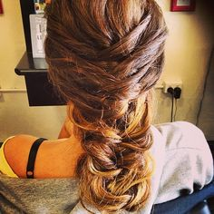 """A #fishtail wrap for our gorgeous formal girl. #braids #formalhair"""