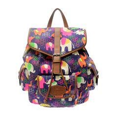 Julia Cotton Canvas Backpack in Elephant Rain