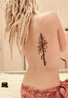 Evergreen tree tattoo | Tattoo ideas