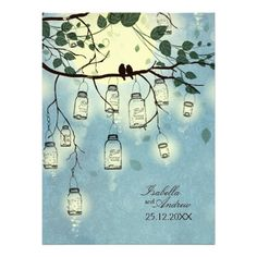 Mason Jar Romance Wedding Invitation