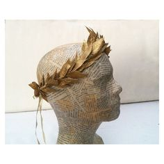 New Year's Eve, Gold Leaf Crown, Grecian, Gold Crown, Greek, Holiday... ❤ liked on Polyvore featuring accessories and gold crown