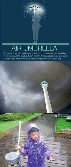 Air Umbrella… OMG this is awesome! But is this even real? What happens if … - Techno Gadgets High Tech Gadgets, Gadgets And Gizmos, Techno Gadgets, Top Gadgets, Camping Gadgets, Cool Technology, Technology Gadgets, Engineering Technology, Art Et Design