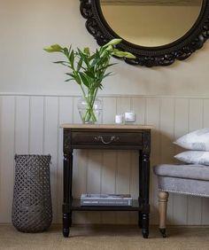 Blenheim Rectangular Side Table - Black – La Residence Interiors