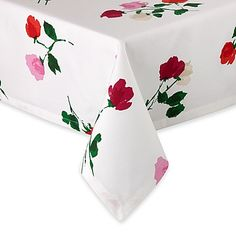 This beautiful and versatile floral tablecloth designed by kate spade new york is perfect for either a casual or formal table. It's stylish yet all cotton and easy to take care of – machine washable.