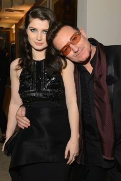 Bono and his daughter, Eve Hewson.