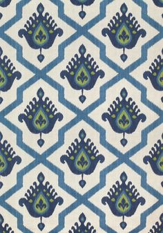 MYANMAR IKAT, Navy, F936136, Collection Enchantment from Thibaut