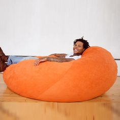 Cocoon Bean Bag Chair Orange now featured on Fab. Bean Bag Chair Orange, Giant Bean Bag Chair, Bean Bag Bed, Giant Bean Bags, Bean Bag Furniture, Furniture Inspiration, Style Inspiration, Little Houses, Home Crafts