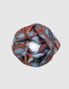 Silk long elegant scarf, lightweight printed unique scarves, gift for mum £46.00