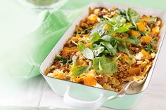 Pumpkin, lamb & feta pasta bake http://www.taste.com.au/recipes/21511 ...