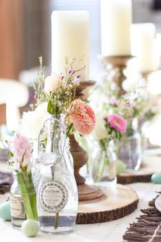 5 Decorating Mistakes That Make Your Home Look Cluttered * * * Before getting to this design lesson – I have something fun, fabulous and FREE Glitter Candles, Farmhouse Side Table, Rustic Farmhouse, Farmhouse Style, Diy Vanity, Easter Brunch, Easter Dinner, Easter Table, Do It Yourself Home