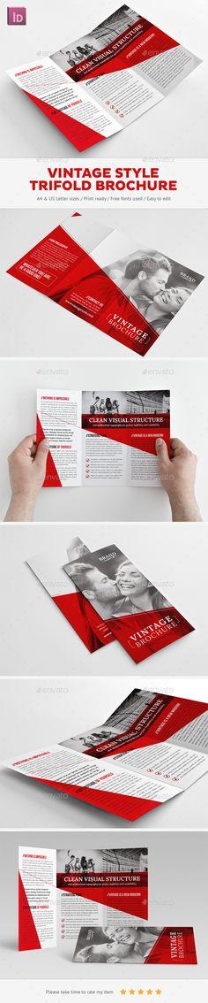 Vintage Trifold Brochure - Corporate Brochures