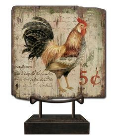 Loving this Chicken Tabletop Sign on #zulily! #zulilyfinds
