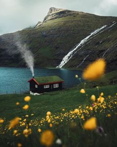Would you live here? A home in the Saksun Faroe Islands. Photo by Would you live here? A home in the Saksun Faroe Islands. Photo by The Places Youll Go, Places To Visit, Faroe Islands, Cabins In The Woods, Adventure Is Out There, Belle Photo, Beautiful Landscapes, The Great Outdoors, Wonders Of The World