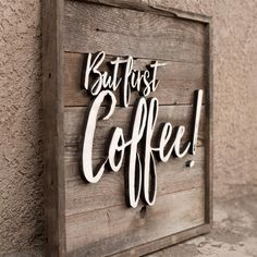 I love rainy days. I'm not a coffee drinker but when it rains I like to have a cup and cuddle up on the couch. Any of you have to have coffee first thing in the morning? #butfirstcoffee #lasercut #lasercutting #rustic #rusticdecor #reclaimed #reclaimedwood #fencewood #fenceboards #fenceboardsign #coffee #coffeeaddict #coffeetime #coffeehouse #coffeebreak #coffeebeans #coffeeshop #coffeeholic #coffeelover by harpergrayce