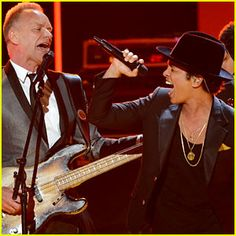Bruno Mars Sting Grammys 2013 performance