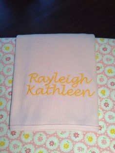 Baby Blanket Monogram Personalized by KaileysMonogramShop on Etsy