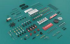 TOYAN FS-L400 14cc Inline 4 Cylinder Four-stroke Water-cooled Nitro En - EngineDIY Nitro Engine, Gasoline Engine, Gear Pump, Rc Model, Radio Control, Inline, Rc Cars, Airplane, Planes